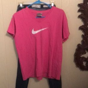 Nike shirt and hollister jeans